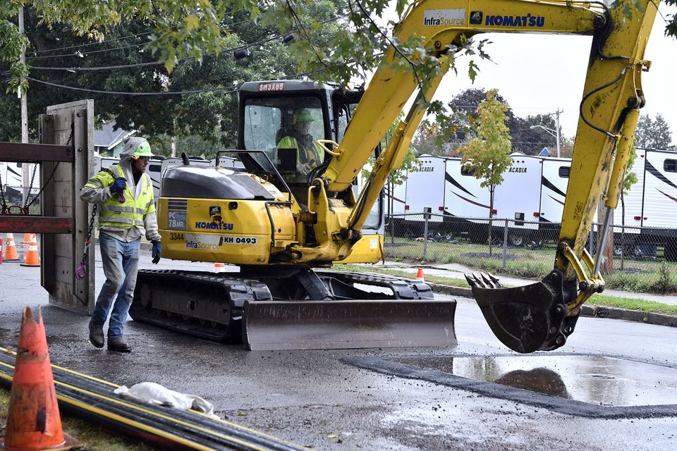 Crews worked earlier this month in Lawrence in the wake of the Merrimack Valley gas explosions.