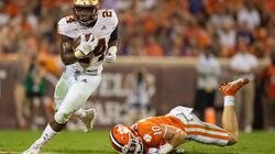 Pat Garwo III carries the ball against Clemson in what turned out to be a frustrating loss for BC Oct. 2.