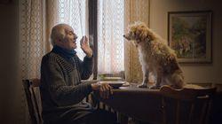 "Aurelio Conterno with his dog Birba in ""The Truffle Hunters."""