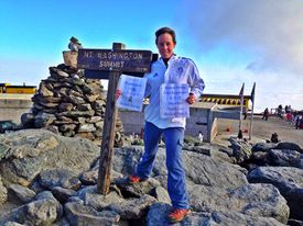 Nicole McGerald at the summit of Mount Washington this past weekend.