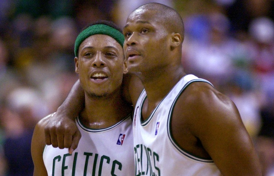 Although their careers began together in Boston but ended separately elsewhere, Antoine Walker (right) and Paul Pierce have maintained a strong relationship.