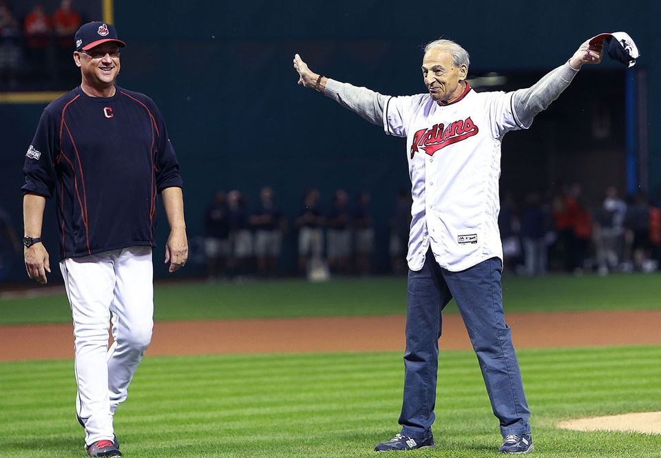 Tito Francona (right) was the father of former Red Sox and current Indians manager Terry Francona.