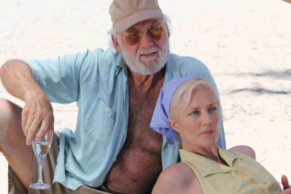 "Adrian Sparks as Hemingway and Joely Richardson as Mary in ""Papa: Hemingway in Cuba."""