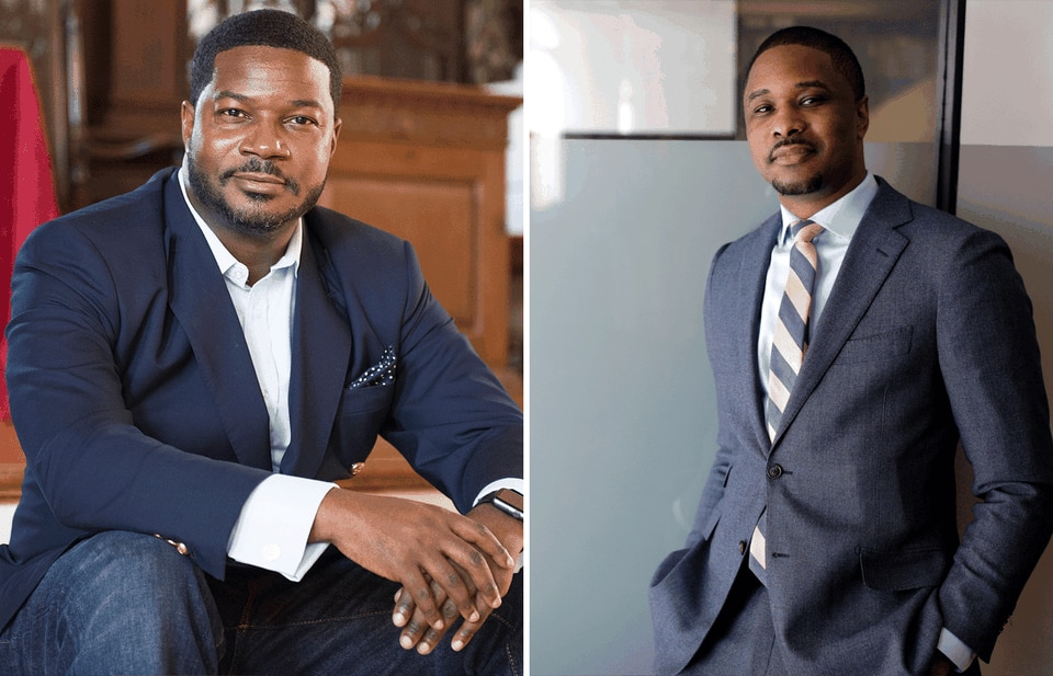 Jonathan Walton (left) and Brandon Terry want Americans to consider challenging facets of Martin Luther King Jr.'s political thought.