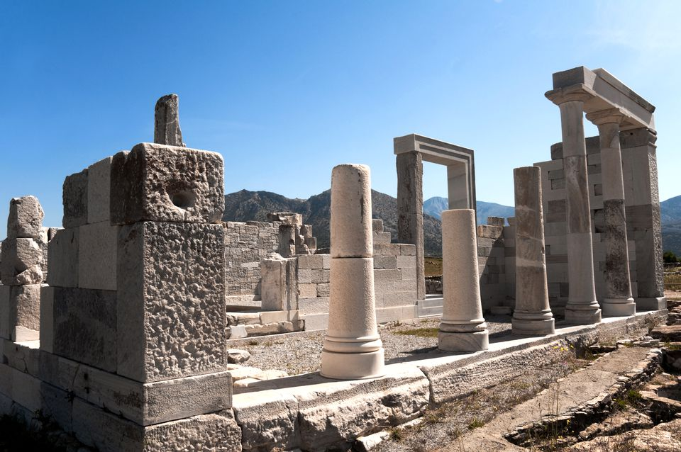 Ruins of the Temple of Demeter on Naxos.