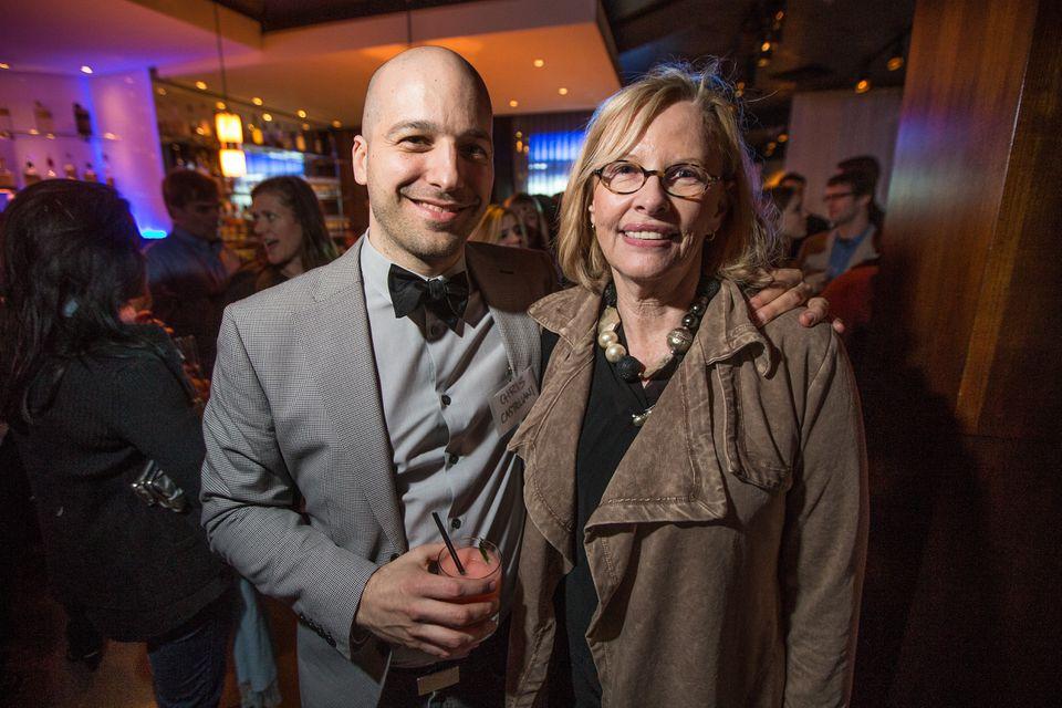 Grub Street artistic director Christopher Castellani and Anita Shreve at 28 Degrees.