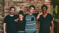 From left: Rob Flax, Dana Roth, Avi Salloway, and Zamar Odongo of Billy Wylder. The band plays a show at the Crystal Ballroom in Somerville Friday.