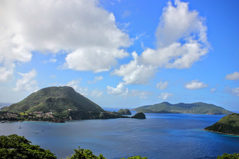 The view from Fort Napoléon on Terre-de-Haut Island, in the Iles Des Saintes, Guadeloupe.