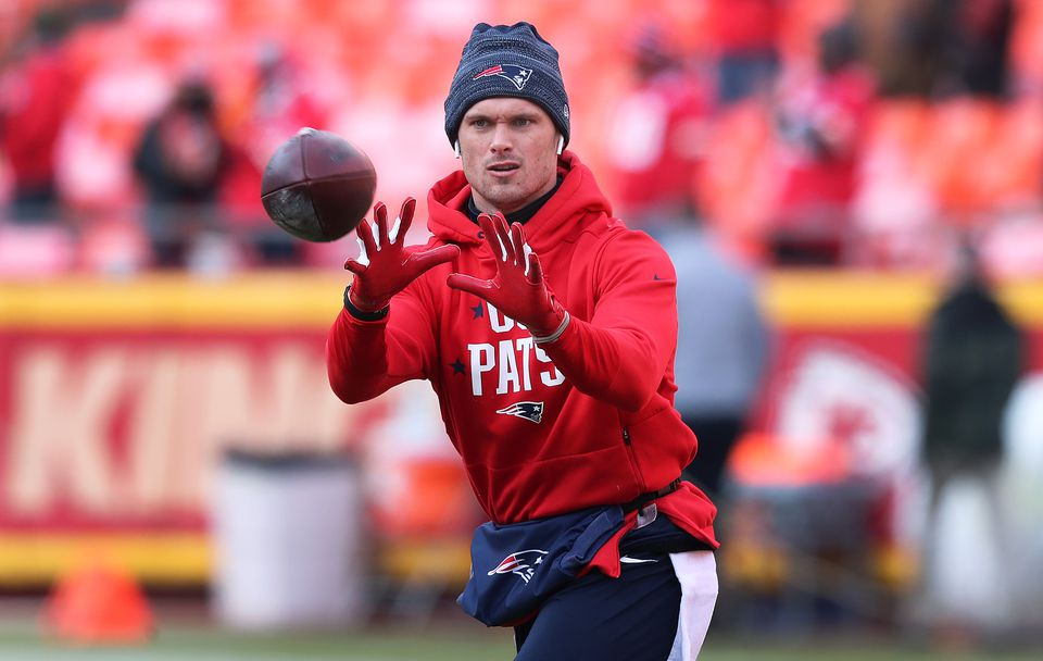 Patriots receiver Chris Hogan was out warming up a couple of hours before kickoff.