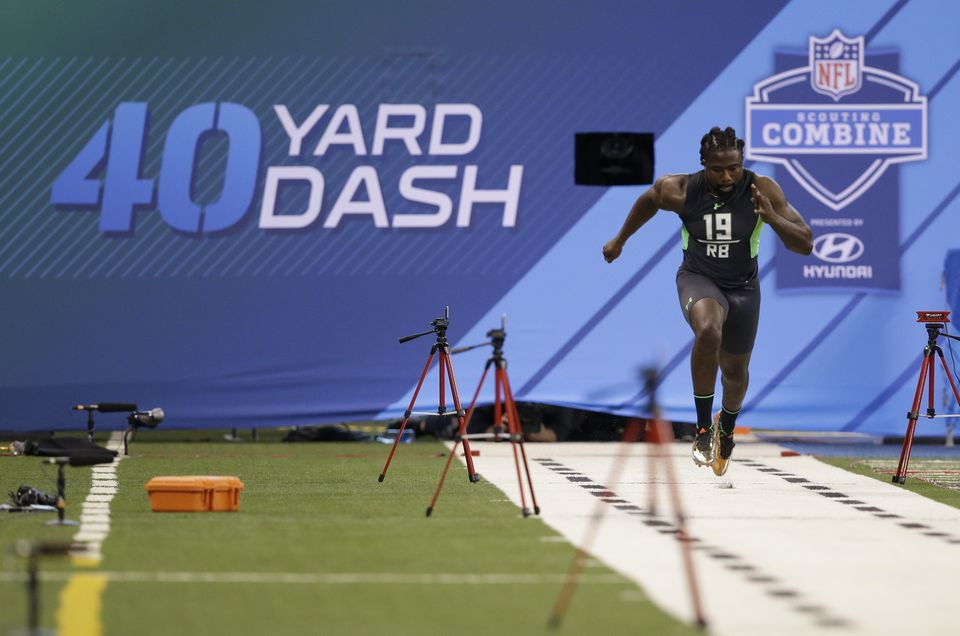 Georgia running back Keith Marshall ran the combine's fastest 40-yard dash.