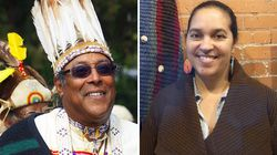 Sagamore William Guy, left, is the principal chief of the Pokanoket Nation. Lorén Spears, right, is the executive director of theTomaquag Indigenous Museum.