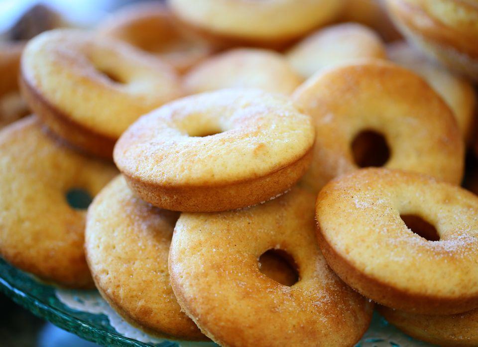 Baked donuts at the Bibi Bakery Cafe.