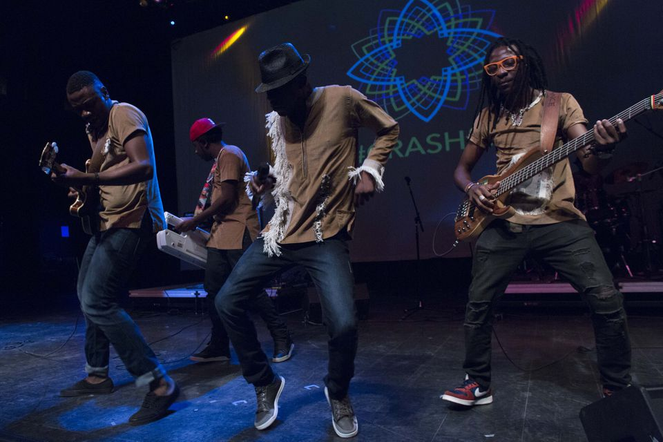 Mokoomba, from Zimbabwe, performing at the House of Blues on Saturday.
