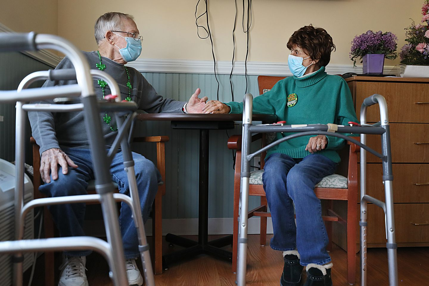 Until recently, nursing home residents Joseph and Mary Kaczynski, who have been married for 60 years, had to live in separate rooms at Alliance Health at Abbott.