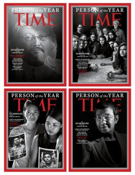"""The covers for Time magazine """"Person of the Year."""""""