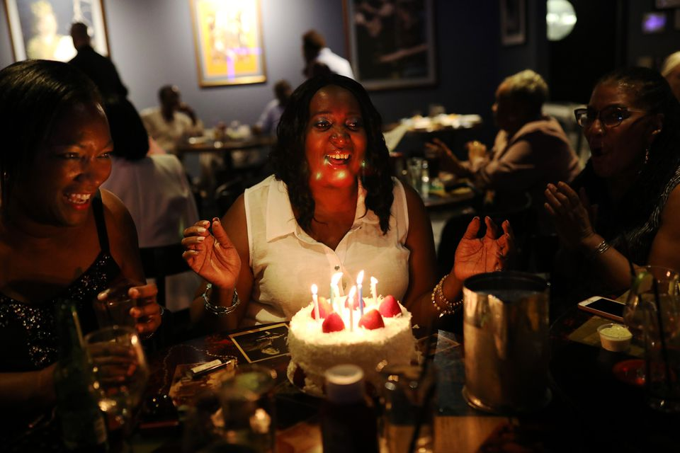 Jan Gadson celebrated her birthday with friends at Ryles Jazz Club.
