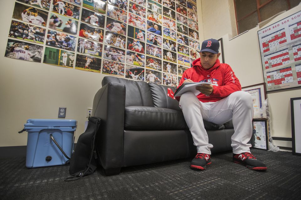 Alex Cora's office is now off-limits to the media.