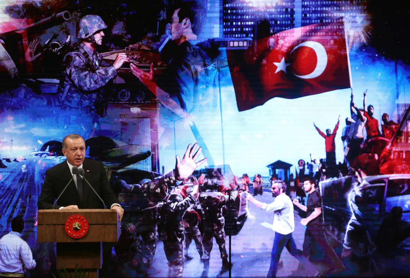 One year after coup attempt, Turkey is still battling