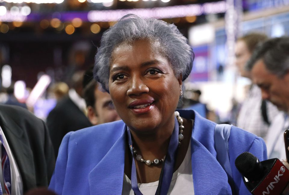 Donna Brazile, interim chair of the Democratic National Committee, on the floor of the Democratic National Convention in Philadelphia.
