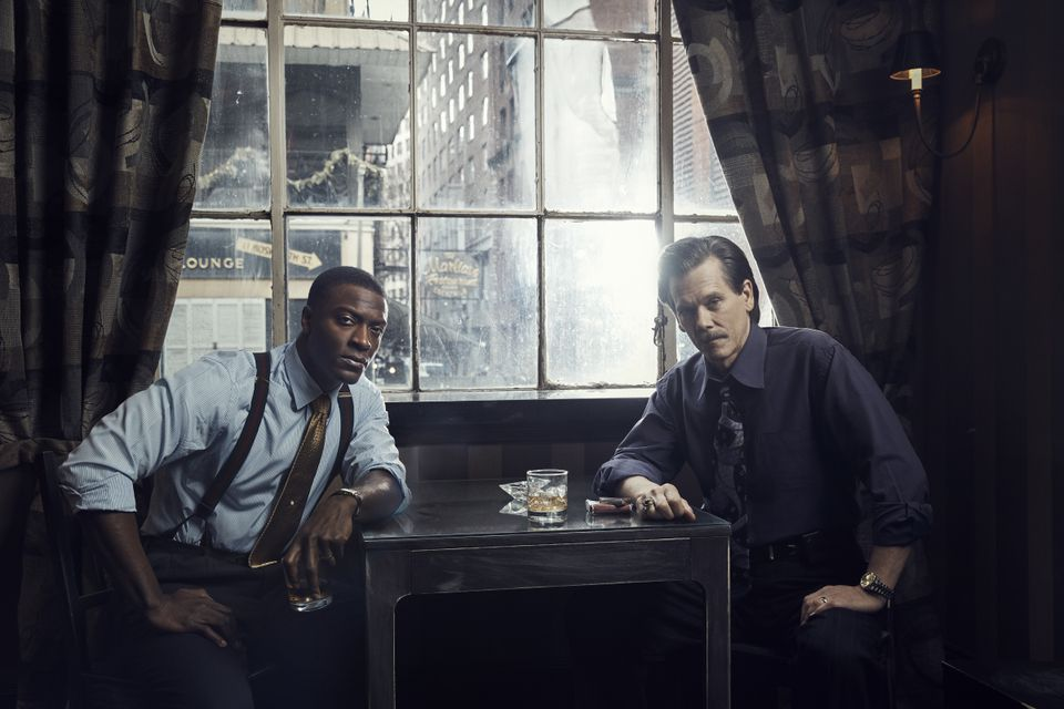 "Aldis Hodge and Kevin Bacon in a promotional photo for ""City on a Hill."""