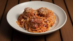 Fuel up on carbs with bucatini and meatballs at Bambara.