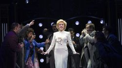 """Jeanna de Waal, center, as the title princess in the musical """"Diana."""""""
