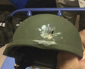 At least one life was saved in the mass shooting at an Orlando nightclub — thanks to a sturdy helmet and some luck.