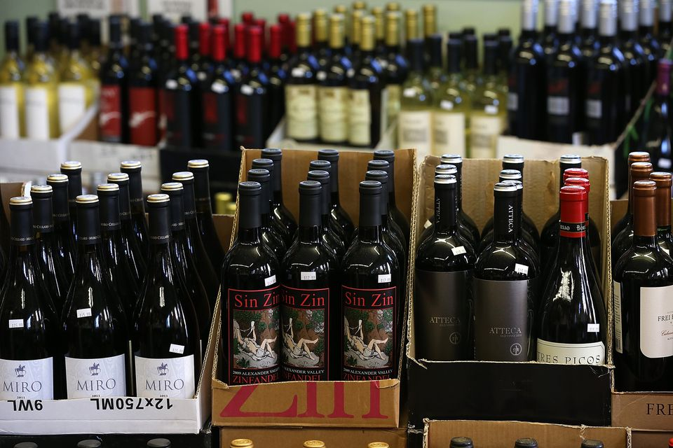Bottles of wine at Ludwigs Fine Wine and Spirits in San Anselmo, Calif.