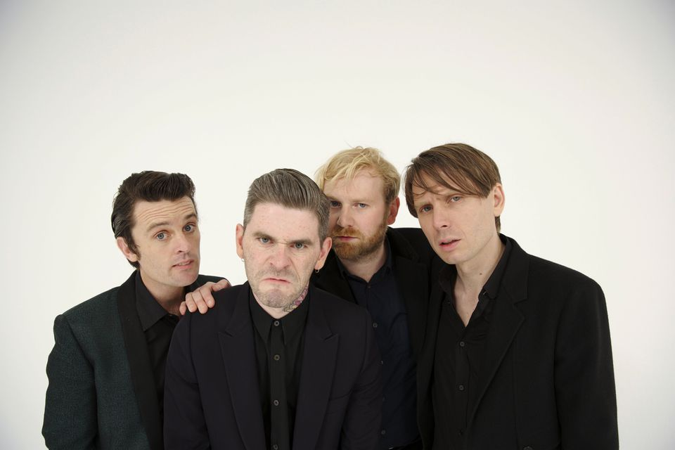From left: Nick McCarthy, Paul Thomson, Bob Hardy, and Alex Kapranos of Franz Ferdinand.
