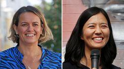 Boston mayoral candidates Annissa Essaibi George (left) and Michelle Wu.