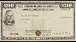 A 1944 savings bond.