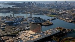 A massive swath of industrial land in Everett is being made available to developers. ExxonMobil has put its 95-acre Everett Terminal on the block, while the city is pursuing eminent domain rights to take a big part of the Exelon power plant (pictured here behind the Encore casino) for development.