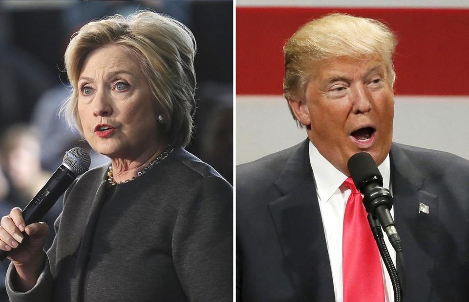 Hillary Clinton (left) and Donald Trump.