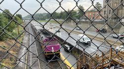 The existing single-platform Newtonville commuter rail station can only be reached by a long stairway from a nearby bridge over the Mass. Turnpike -- making it inaccessible for many people with mobility issues.