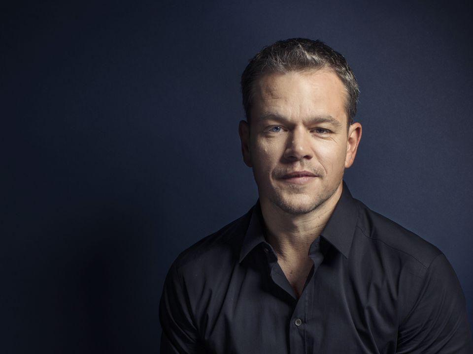 Matt Damon posed for a portrait at the 2015 Toronto International Film Festival.