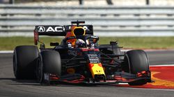 Max Verstappen of the Netherlands driving the (33) Red Bull Racing RB16B Honda during the F1 Grand Prix of USA at Circuit of The Americas on Sunday in Austin, Texas.