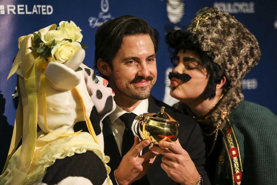 Milo Ventimiglia accepted the Hasty Pudding Theatricals Man of the Year award Friday evening.
