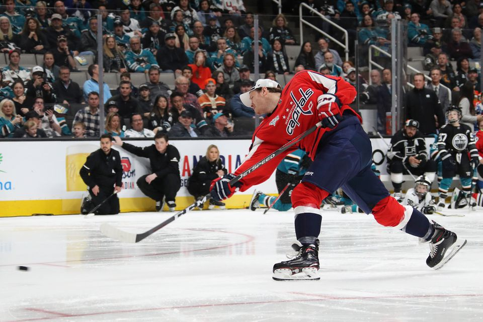 John Carlson won the hardest shot competition at the NHL All-Star Game.