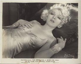 """Ina Claire in """"The Greeks Had a Word for Them,"""" 1932"""