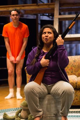 """Eddie Shields as Benji and Maria Jan Carreon as the title character in """"Edith Can Shoot Things and Hit Them."""""""