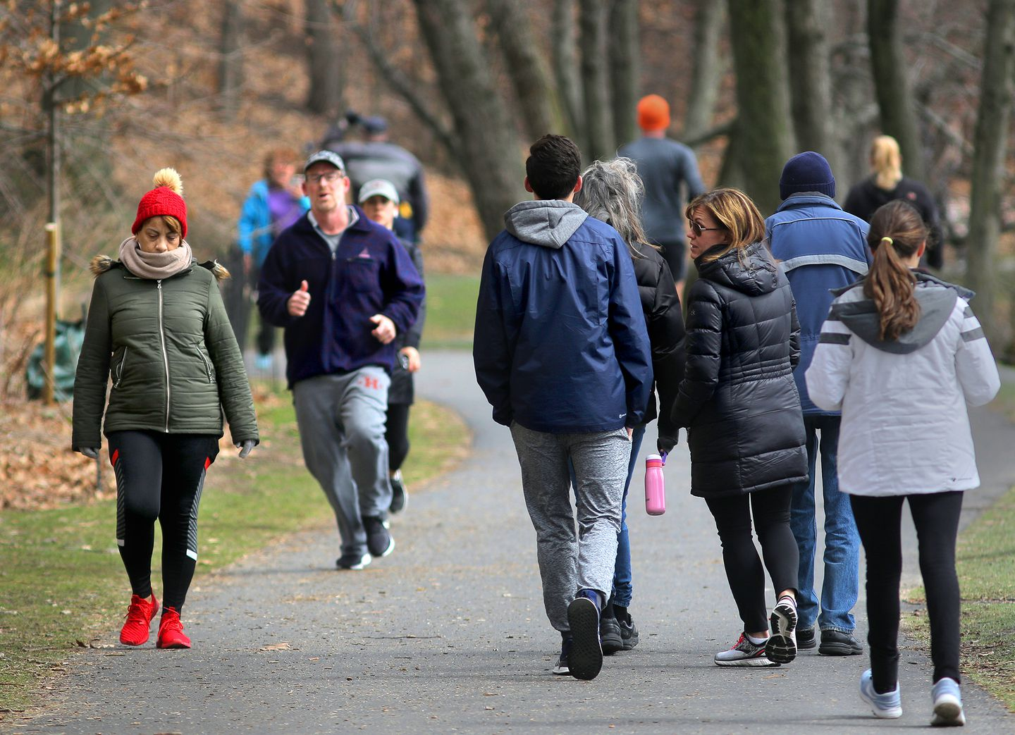 People enjoyed Jamaica Pond on a pleasant day on Tuesday.