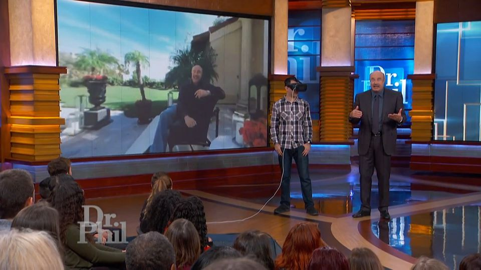 """Dr. Phil"" host Phillip McGraw demonstrated the ""Path to Recovery"" virtual reality product on his show."