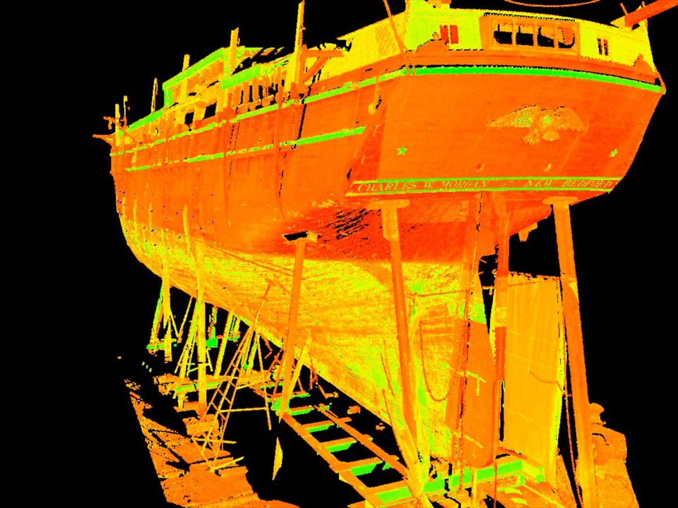 Mystic Seaport historians used a 3-D scan during renovation work on the historic Charles W. Morgan whaling vessel.