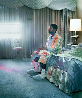 "David Oyelowo plays a delusional veteran in HBO's single-character movie ""Nightingale."""