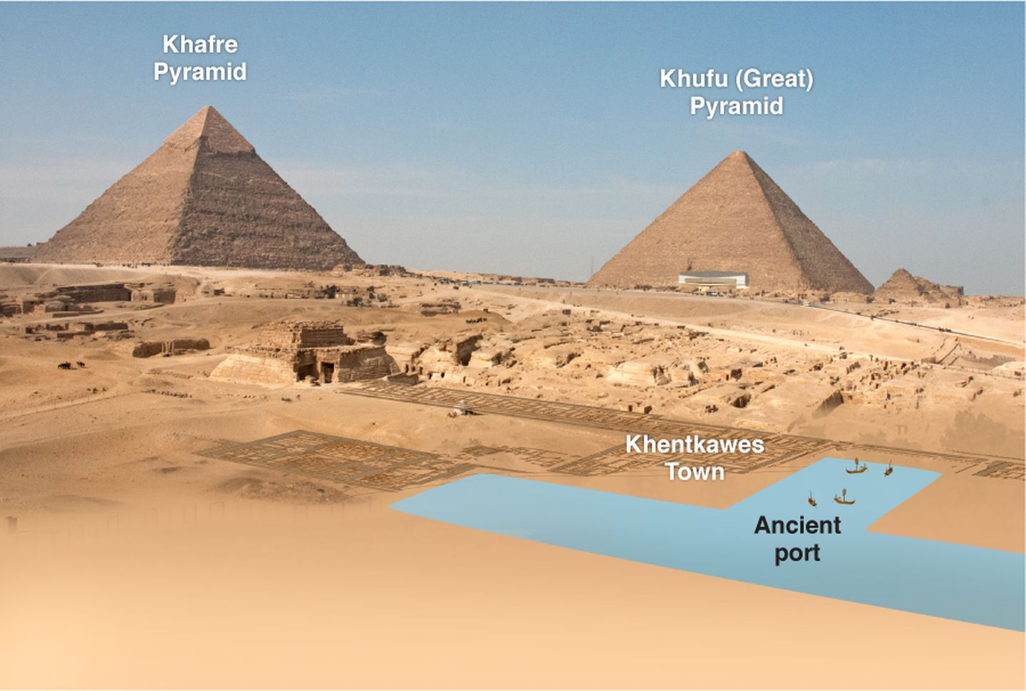 Did The Egyptians Create A Canal And A Port To Bring Stone To The Great Pyramid The Boston Globe