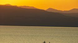 Sunset sail on Lake Champlain.