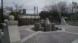 The sculpture of William Blackstone by Peruko Ccopacatty was slated to be installed on this site at Roosevelt and Exchange streets in Pawtucket, R.I.
