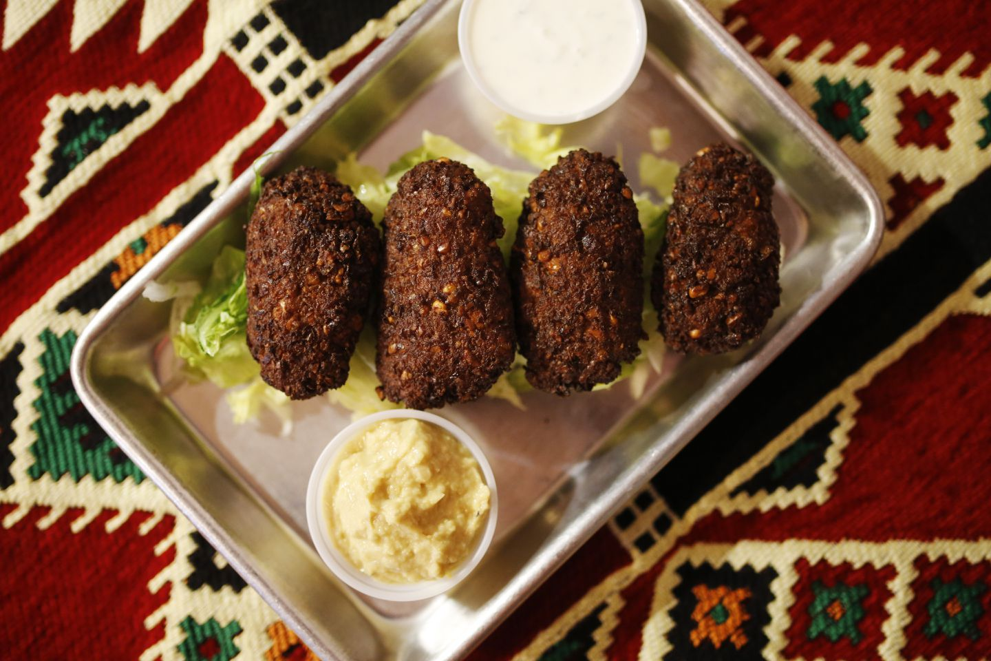 Paprika Grill makes falafel to order to maintain the food's soft interior and crunchy exterior.