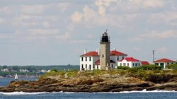 The Beavertail Lighthouse in Jamestown, R.I.