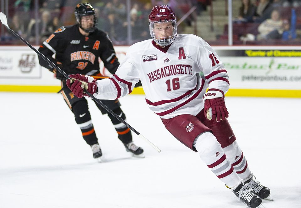 Sophomore Cale Makar had 13 goals and 29 assists for UMass this season.
